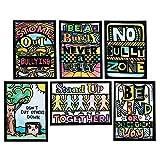 S&S Worldwide Anti-Bully & Kindness Velvet Art Mini Posters (Pack of 24)