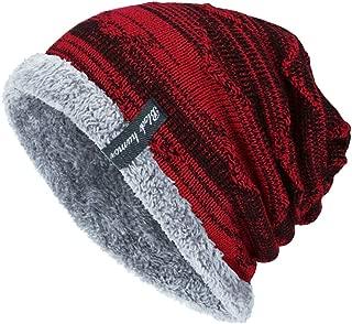 Mens Winter Warm Slouchy Beanie Oversized Baggy Hat Fleece Lined Knit Skull Cap