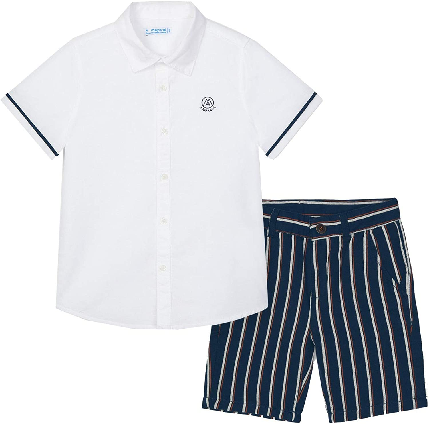 Mayoral - Linen Shirt and Short Navy 3244 for Reservation Fresno Mall Boys Set