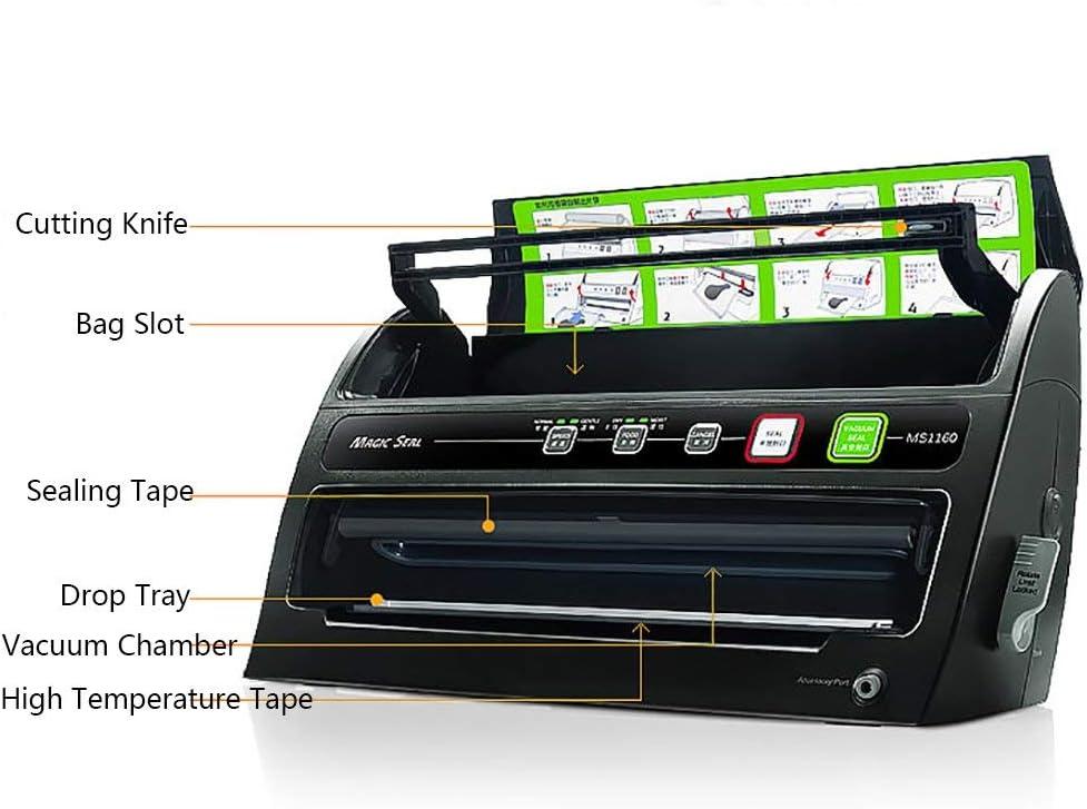 LLDKA 3-in-1 vacuümmachine, automatische vacuümvoorziening, laarzen voor de conservering van droge voer, natte voering, bereiden koken 40,5 x 12 x 21,5 cm wit