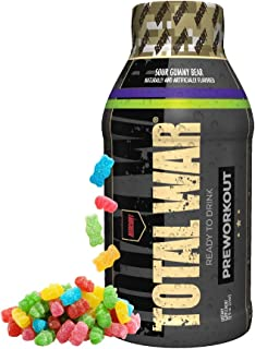 Redcon1 - Total War RTD Ready to Drink, 12 Pack, Great Tasting, On The Go, Caffeine, Beta-Alanine, Fast Energy (Sour Gummy Bear)