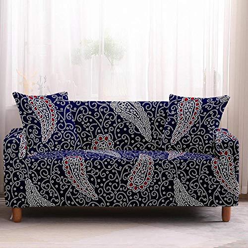 Fundas de sofá de alta elasticidad geométrica, fundas para sofá de esquina, sillón, sofá de 2 plazas, color 2