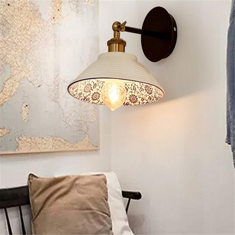 Chandelierwall Wandleuchte Einfache Moderne Treppe Kreative Atmosphre Wohnzimmer Schlafzimmer Nachttischlampe Hotel Korridor Gang Porzellan Keramik Wandlampen (23  23 Cm) [Energieklasse A ++]