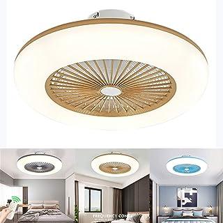 Lámpara de techo ventilador de techo con iluminación LED y mando a distancia ventilador silencioso creativo ventiladores de invisible a techo iluminación para salón dormitorio, oro