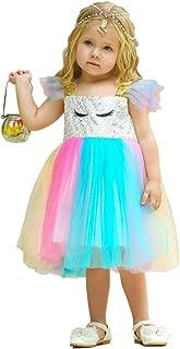 Little/Big Girls Shiny Sequins Birthday Party Dance Dress