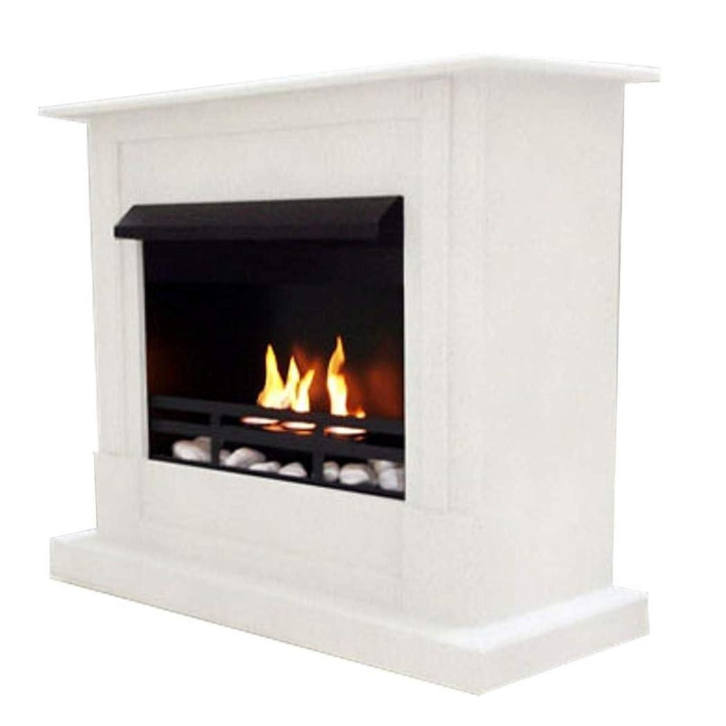 責任者自伝ラフジェル+ ethanol fire-places Emilyデラックスinclusive : 1調節可能なstainless-steel Burner ホワイト 10080