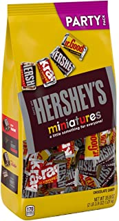 HERSHEY'S Miniatures Chocolate Candy Assortment, Party Bag 2lbs