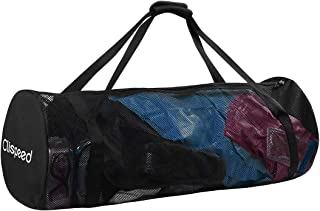 Clispeed Mesh Duffle Gear Bag with Shoulder Strap | for Scuba Diving, Snorkeling, Swimming, Beach and Sports Equipment (Bl...