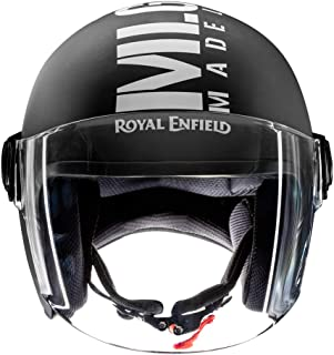 Royal Enfield Matt Black Open Face with Visor Helmet Size (L)58 CM (RRGHEL000044)