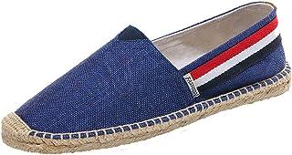 YOUJIA Espadrilles Mixte Adulte Vintage Ethnique Plat Slip-on Chaussures d'été