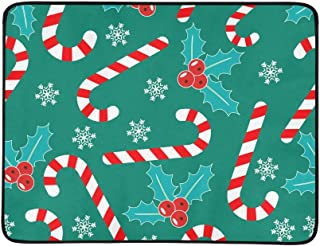 Christmas Lollipop Dessert Pattern Portable and Foldable Blanket Mat 60x78 Inch Handy Mat for Camping Picnic Beach Indoor ...