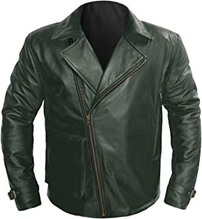 89c11acadf458 Chris Evans Captain America First Avenger Genuine Leather Bomber Military  Jacket