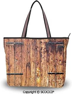 SCOCICI Tote Bag Oversized Shoulder Handbag Purse Otter,Adorable Couple Holding