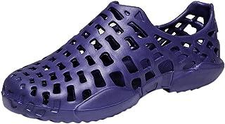 Homme Femme Sabots Plastique Plage Hopital Jardin Été Pantoufles Anti-Glissement Sandales Chaussures Aquatiques Unisexe Pa...