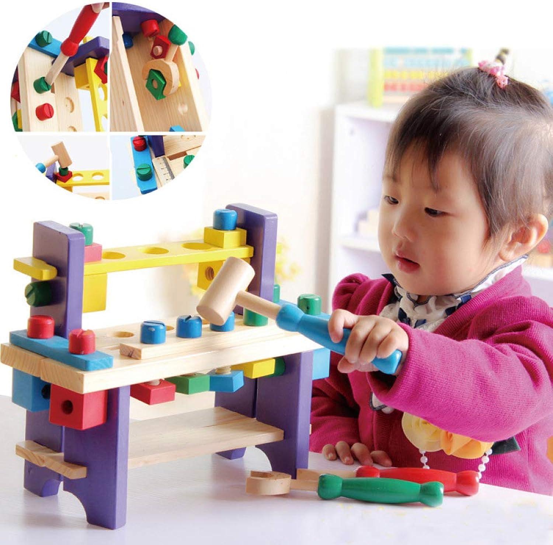 QXMEI bambini Early Education Combinazione di Giocattoli in Legno Smontaggio Piattaforma per Strumenti Sviluppo Multidivertimentozionale Sviluppo Intellettuale giocattolo costruzione Block