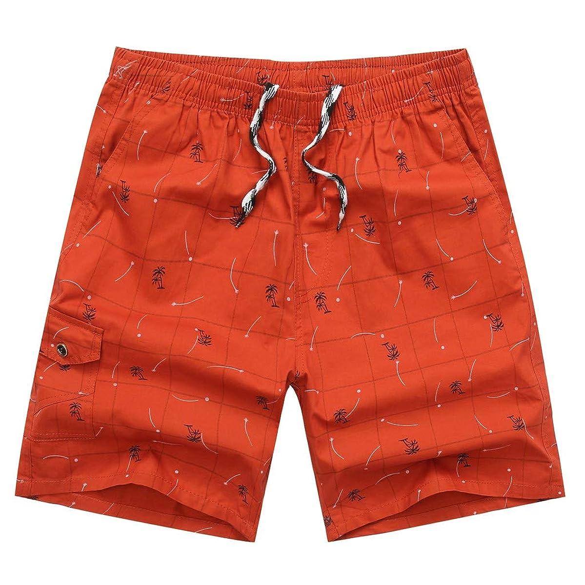 ZEFOTIM Shorts for Men 2019 Spring Summer Print Trunks Quick Dry Beach Surfing Running Short Pant