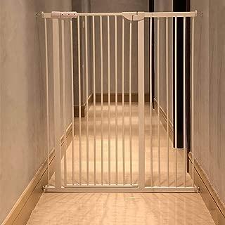 階段出入り口のエクストラワイドと背の高いベビーゲート、猫/犬のドアの圧力マウントメタルペットゲート、120 Cm高さ、白 (Size : 90-96CM)