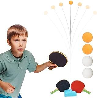 Equipo De Tenis De Mesa,Máquina De Entrenamiento Individual De Ping-Pong,Juego De Tenis De Mesa Interactivo para Padres, para Niños Fácil Usar con Varilla Elástica Eje Blando Elástico