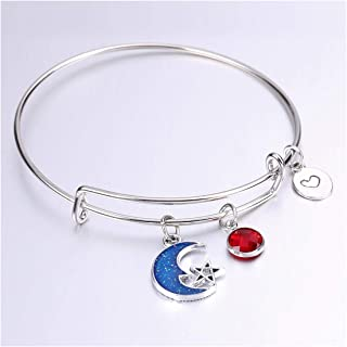 8fbd42260d934 Amazon.com: Sun, Moon & Stars - Bangle / Bracelets: Clothing, Shoes ...