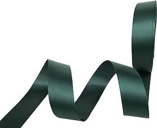 3/8 Inch Wide Double Face Satin Ribbon No Fading Woven Ribbon - 25 Yard (593-Dark Green)