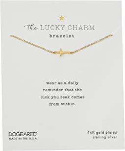 The Lucky Charm Bracelet, Cross Charm On Chain