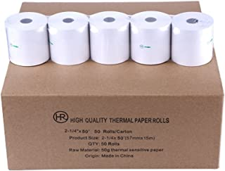 50 Rolls Thermal POS Receipt Cash Register Paper Roll by Hapaper Brand (2 1/4