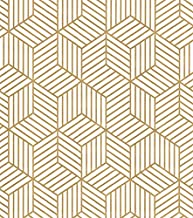 DWIND D9425 Peel and Stick Wallpaper Gold Hexagon Contact Paper Self Adhesive For Furniture Kitchen Countertop Table Door ...