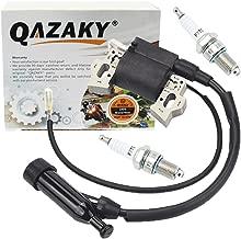 QAZAKY Ignition Coil Spark Plug F7TC Replacement for GX110 GX120 GX140 GX160 GX200 4HP 5.5HP 6.5HP Engine Generator Lawnmower Tractor Rototiller Water Pump Go Kart Mini Bike Tillage Polishing Machine