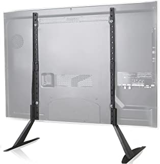 WALI TVS001 Universal TV Stand Table Top for Most 22 to 65 inch LCD Flat Screen TV, VESA up to...