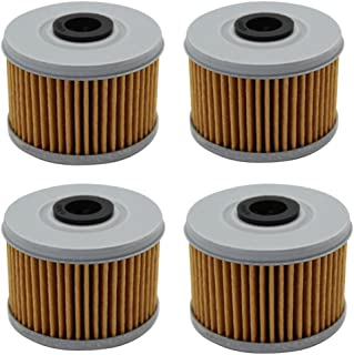 Cyleto Oil Filter For HONDA TRX420TE TRX420 TM FOURTRAX 420 RANCHER 420 ES 2007 2008 2009 2010 2011 2012 2013 2014 2015 2016 (Pack of 4)