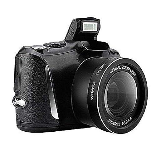 "CD-R6 Digital Camera Camcorder, Full HD Video Recorder 1080p, 24MP, 3.5"" Flip Screen, Black"