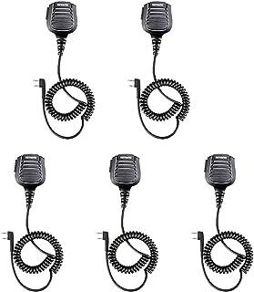 mikrofon 5pcs. IP54. ماء 2 دبوس المتكلم ميكروفون ميكروفون مع 3.5mm الصوت جاك rety Walkie C9075B. microphone