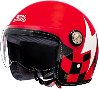 Royal Enfield Red Open Face with Visor Helmet Size (M)58 CM (RRGHEL000016)