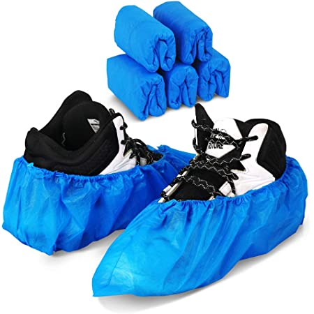 100Pcs Disposable Shoe Cover Waterproof Boot Covers Anti Slip Home Outdoor J8F0