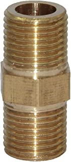 D DOLITY Male Thread Brass Hex Nipple Tube Pipe Connecting Fittings Connector Coupler - #2 10X8mm