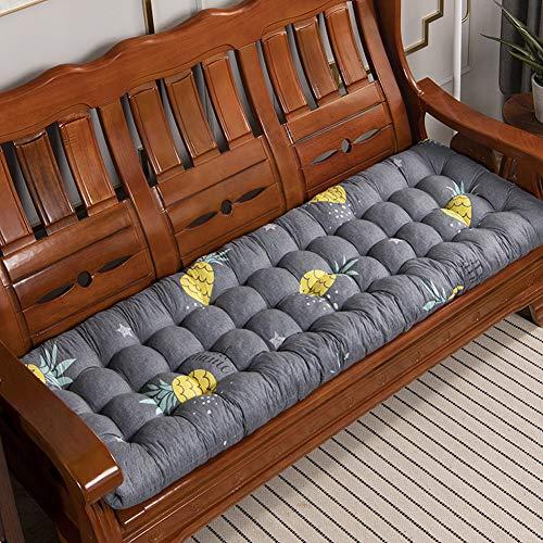 LINGRUI Soft Bench Pad Mat,Garden Chair Seat Pad,Outdoor Seating Cushion Pillow Portable 2 3 Seater Chair Pad Sunbed Lounge Cushion Matress,Non slip