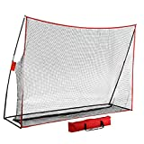 Topeakmart Golf Practice Hitting Net Chipping Net Driving Aid Training with Free Bag