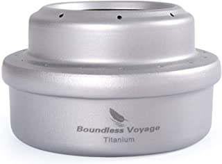 Boundless Voyage Titanium Alcohol Stove Outdoor Camping Ultralight Portable Mini Spirit Cooker Alcohol Burner for Camping ...