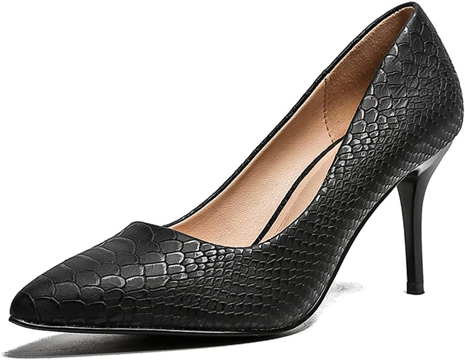 TUYPSHOES Women's Serpentine Stiletto Heel High Heels Shallow Mouth shoes Pumps