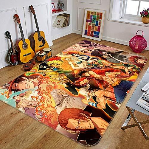 Lee My Alfombra Alfombra de Japan Anime Mat Anime Cosplay One Piece Fairy Tail Alfombra de Antideslizante para Salón Dormitorio Baño Sofá Habitaciones De Nios,b,50 * 80cm