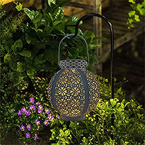 Wandskllss Farol solar para colgar luces de jardín, decoración de césped al aire libre, para patio, jardín, patio y césped, color negro