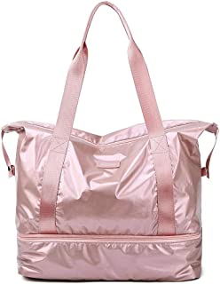 Fashion Makeup Bag,Multifunctional Large Capacity Travel Duffle Bags for Party Beach,Pink,41x23x34cm