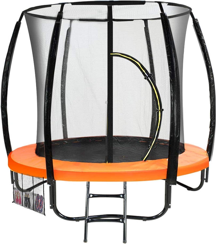 6 ft Trampoline Kahuna Jumper Outdoor Round Pad Mat Net Ladder  orange