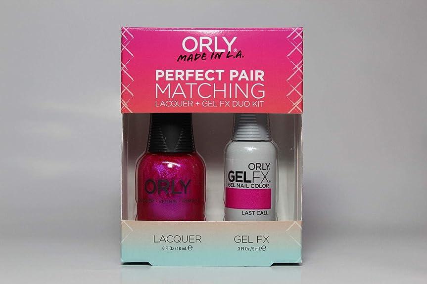 保証逃すとは異なりOrly - Perfect Pair Matching Lacquer+Gel FX Kit - Last Call - 0.6 oz / 0.3 oz