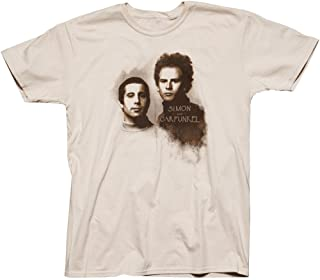 Simon and Garfunkel - Retro Photo Tee on Sand Colored Men's SS Tee
