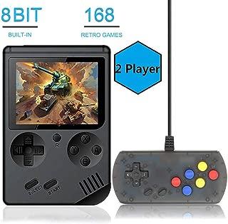 BAORUITENG Handheld Game Console, Retro FC Game Console,Video Game Console with 3 Inch 168 Classic Games (Plus)