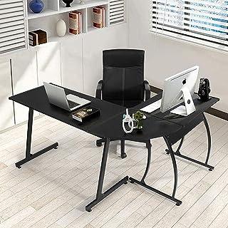 YANGHAO- L-vormige computer bureau houten paneel, metaal, draagbaar hoekbureau, werkstation grote pc gaming bureau, voor t...