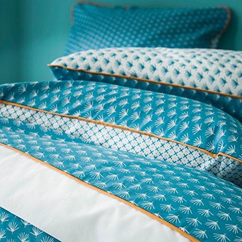 BLANC CERISE Taie d'oreiller imprimée en Percale de Coton 65X65 cm