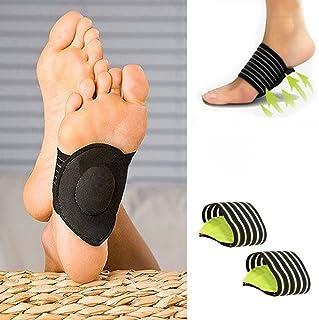Dpolrs 1 par la Ayuda de Arco del pie Cojín masajeador Almohadillas de compresión para los pies Planos Verdes