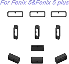 RuenTech 10-Pack Replacement Fastener Ring for Garmin Fenix 5&Fenix 5 Plus Band Keeper Security Loop(22mm Band Keeper for Fenix 5 and Fenix 5 Plus)